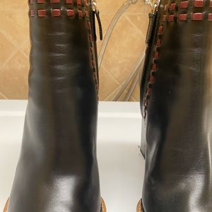 Tod's Shoes - NWOT Tod's Stitched Black Leather Ankle Boots